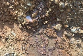 Image showing contaminated land soil discolouration
