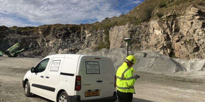 OSM Environmental Consultant, Leanne Leonard, Completing Field Work In A Quarry