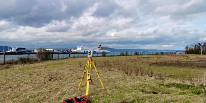 OSM Environmental Consultants Get To Work At RSPB's Window On Wildlife. Thier Expert Environmental Consulting Equipment Is In View Overlooking Belfast Lough
